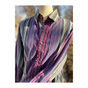 Robert Graham Dress Shirt Button Down Novelty